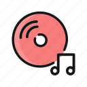 audio, cd, dvd, media, multimedia, music, player icon