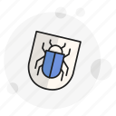 antivirus, bug, protection, security, shield, spyware, threat icon