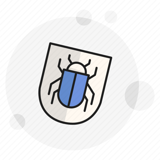 antivirus, bug, protection, security, shield, spyware, threat icon