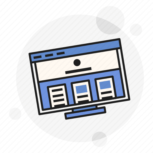 computer, desktop, personal, screen, ui, ux, website icon
