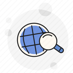 find, global, hunt, investigation, search, seek, view icon