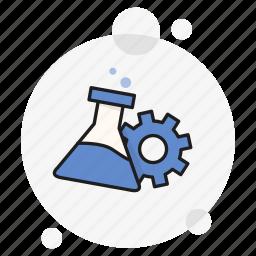 chemical, development, gear, lab, plugin, progress, research icon