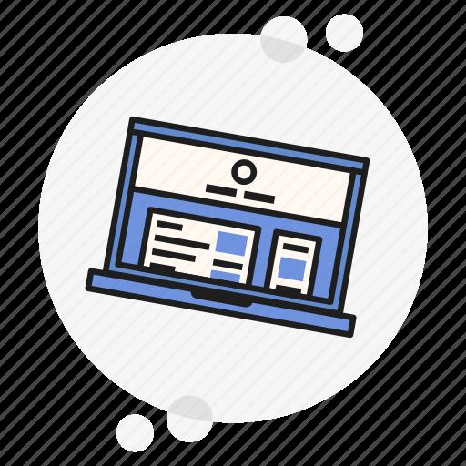 blog, internet, laptop, notebook, ui, ux, website icon