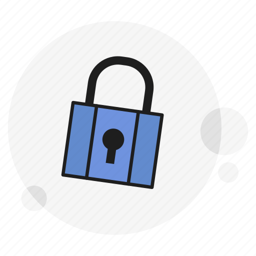 encrypted, locked, padlock, password, privacy, protection, secure icon