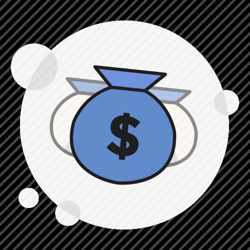 currency, fund, money, profit, reward, sack, wealth icon