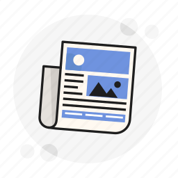 actual, daily, information, media, news, paper, publish icon