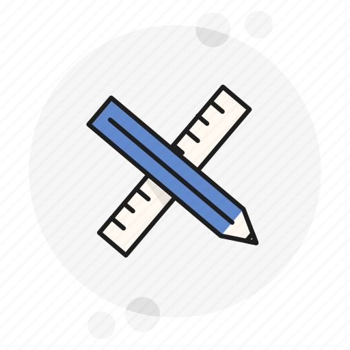 measure, pencil, ruler, school, tech, technical, tools icon