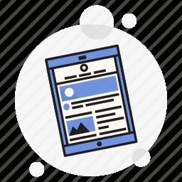 app, blue, mobile, tablet, ui, ux, website icon