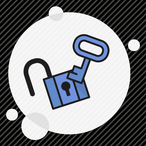 access, hacked, key, padlock, password, security, unlocked icon