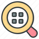 search, zoom, magnifying, glass, loupe, magnifier, find