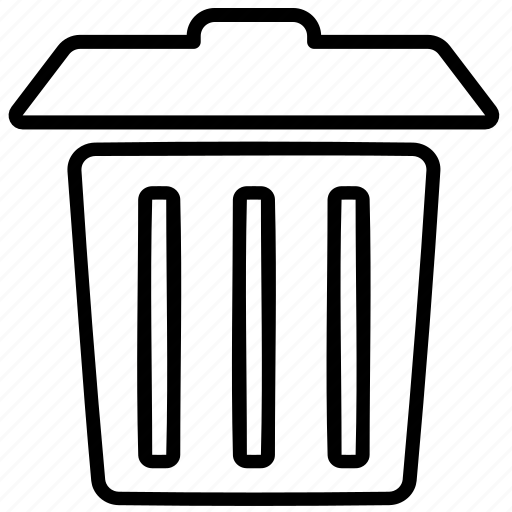 delete, garabage, junk, remove, trash, trash can icon