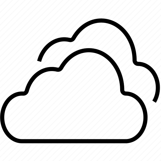 clouds, cloudy, in the cloud, weather icon