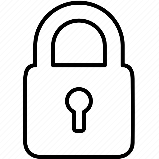 Secure, lock, safe, padlock, encrypted, security icon