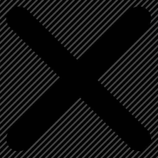 cancel, close, cross out, delete, remove, x icon