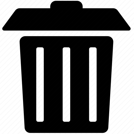 delete, garbage, junk, remove, trash, trash can icon