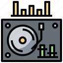 device, electronics, player, recorder, turntable icon