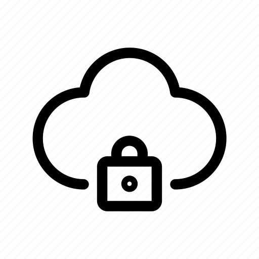 clould, data, locked, protected, secured, server icon
