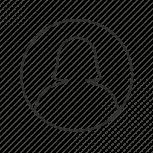 avatar, circle avatar, female avatar, female user, user, user image, user photo icon