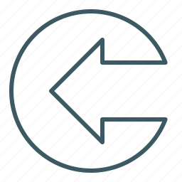 arrow, direction, left, point out icon
