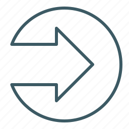 arrow, direction, point out, right icon