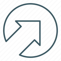 arrow, direction, point out, right, up icon