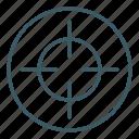 aim, focus, goal, target, targeting icon