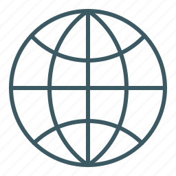global, globe, map, planet, world icon