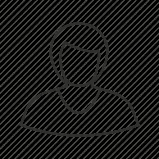 avatar, female, girl, lady, short hair, single user, woman icon