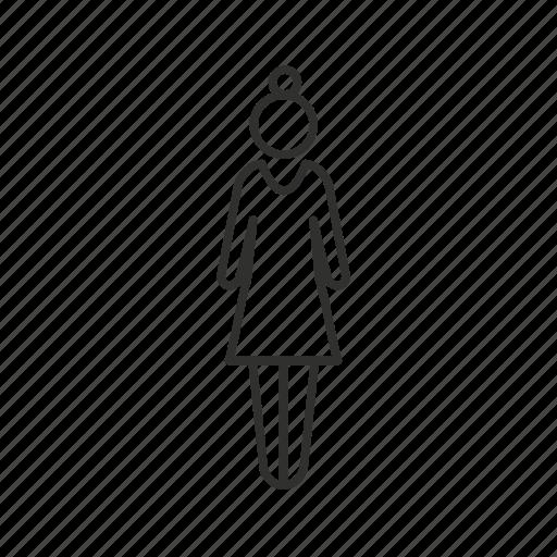 avatar, female user, girl, lady, single user, woman icon
