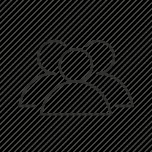 avatar, meeting, multipule user, small team, three people, unisex, users icon