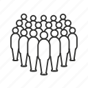 audience, avatar, crowd, gathering, large team, unisex icon
