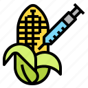 corn, engineering, genetic, gmo, plant icon