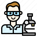 experiment, laboratory, microscope, phd, scientist icon