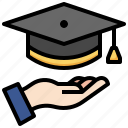 graduation, student, hat, education, award