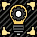 solutions, objective, lightbulb, creative, idea