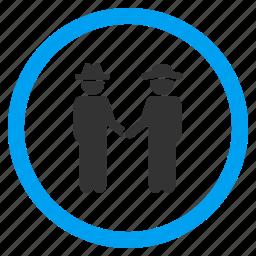 communication, contract, deal, fellows, gentlemen, handshake, relationship icon
