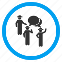 communication, community, conference, discussion, forum, gentlemen, group chat icon