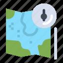 google, gps, location, map, track icon