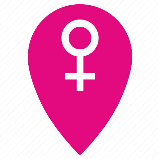 female, girl, gps, location, place, point, woman icon
