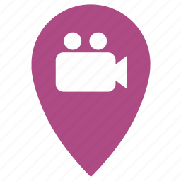 camera, film, geo, place, point, record, video icon
