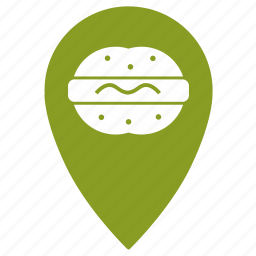 fast, food, geo, hamburger, place, restoran icon