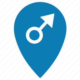gender, gps, location, male, man, place, pointer icon