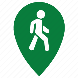 footpassenger, go, gps, location, man, place, point icon