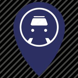 geo, metro, metropolitan, point, station icon