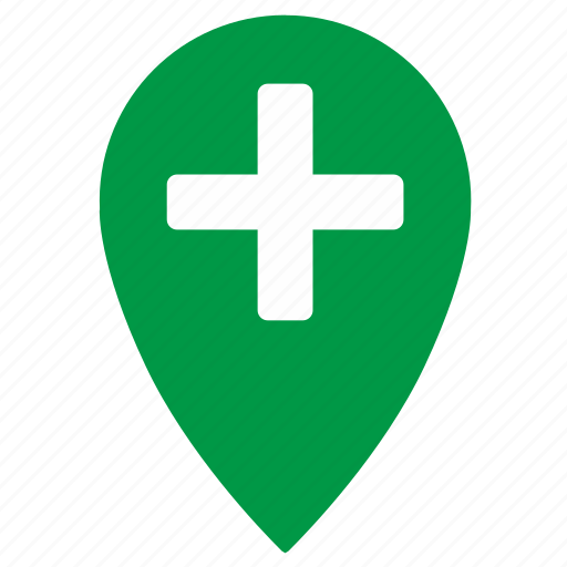 geo, gps, location, map, place, plus, point icon
