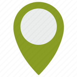 empty, gps, green, info, point icon