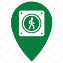 footpassenger, geo, go, location, man, point icon