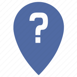 gps, location, map, place, point, question, unknown icon