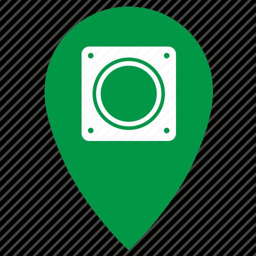 geo, gps, light, point, single, traffic icon