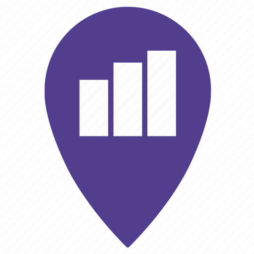 geo, gps, graphic, location, map, point, statistics icon